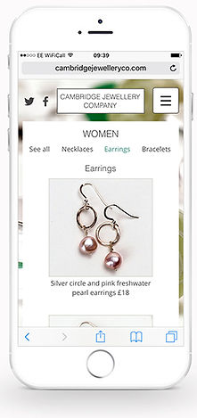 Cambridge Jewellery Co website iPhone #4