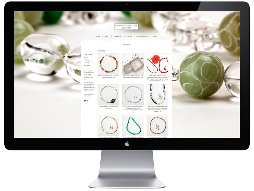Cambridge Jewellery Co website shop