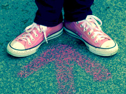 Dayglow Media pink trainers