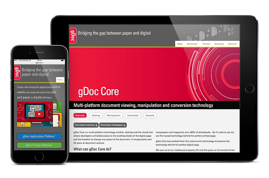 gDoc website iPhone & iPad