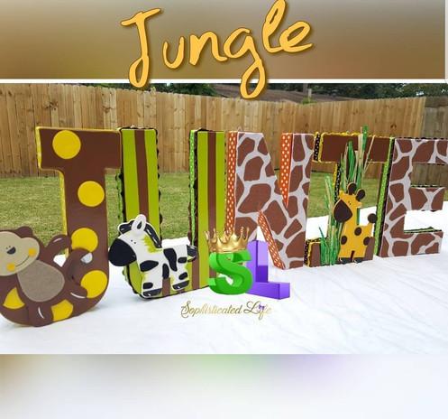 Jungle Theme Baby Shower Jungle Theme Jungle Block Letters Jungle
