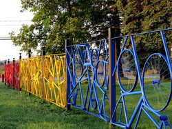 Cloture de vélo recyclé