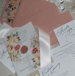 Blush and Wax Seal Classic Floral Vellum