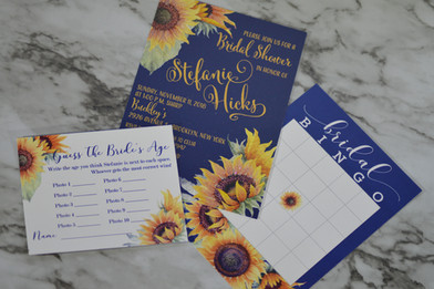 Watercolor Sunflower Invitation