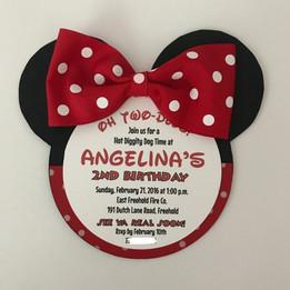 Minnie Silhoutte birthday Invitation