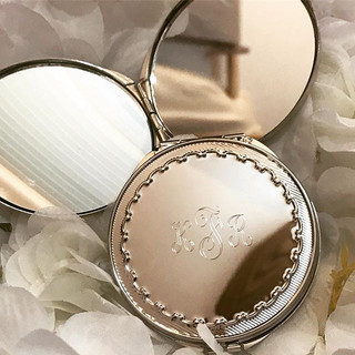Pocket mirror engraved