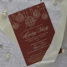 Classy Deep Red and Gold Holiday Party