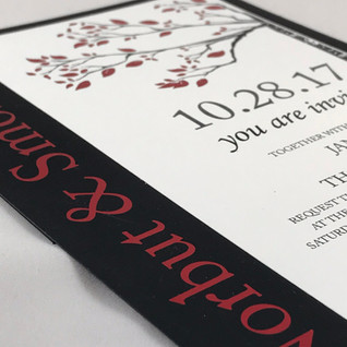 Black and Red Foil Fall
