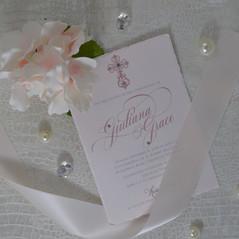 Pink Cross Invitation