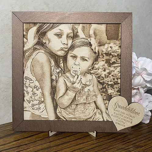Stylized Engrazed Photo on Wood