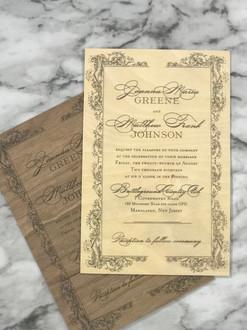 Real Wood Invitations