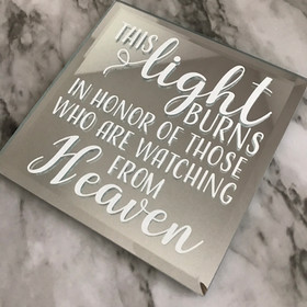 Memorial Table Mirror Sign