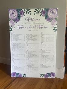 Purple floral canvas
