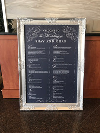 Silver and Navy Blue Seating Chart