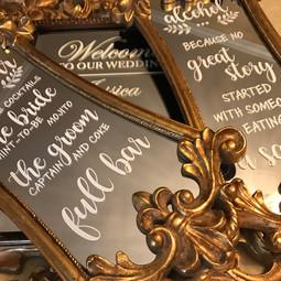 Custom Mirror Signs