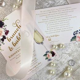 Blush watercolor bridal shwoer