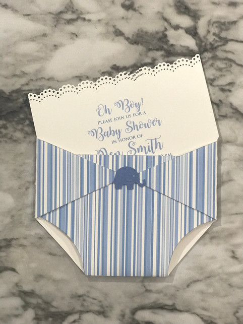 Diaper Baby Shower Invitation
