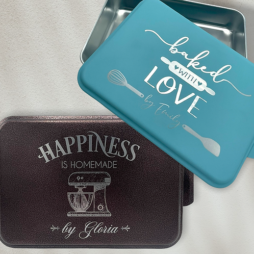 Personalized Baking Pan with Lid