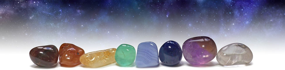 Picture of Chakra stones for blog heading page