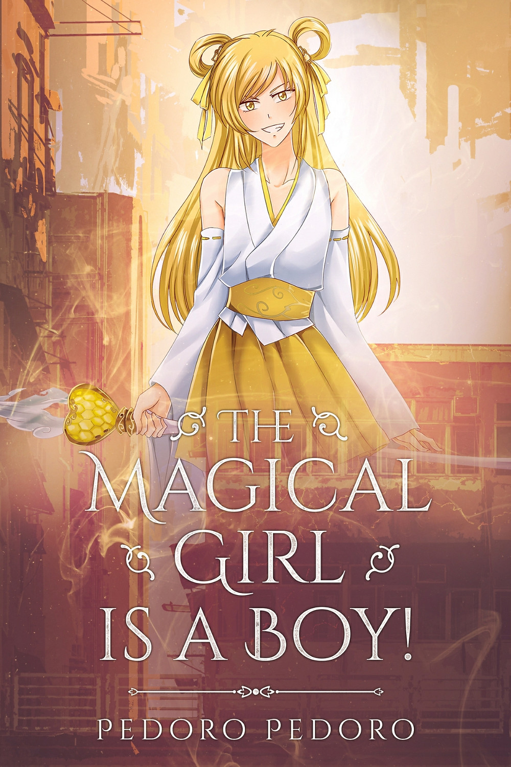 Magical Girl is a boy! Cover. Cute blond magical girl