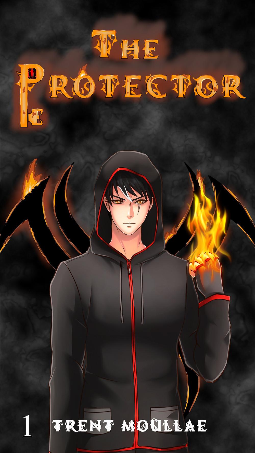 The Protector volume 1 cover featuring pretty demon boy, Zane