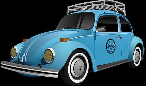 "4""x6"" Deano's VW Bug decal"
