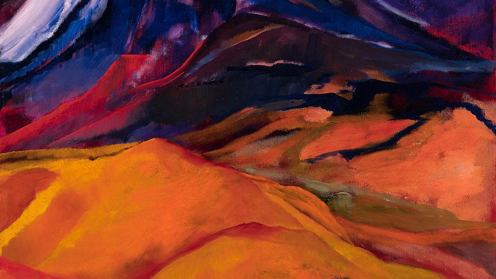 Virginia Range Overlook in August: Oil:Framed:24x30