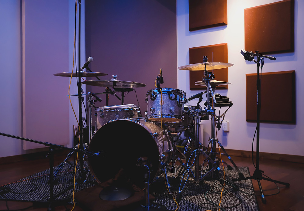 Drum kit recording setup