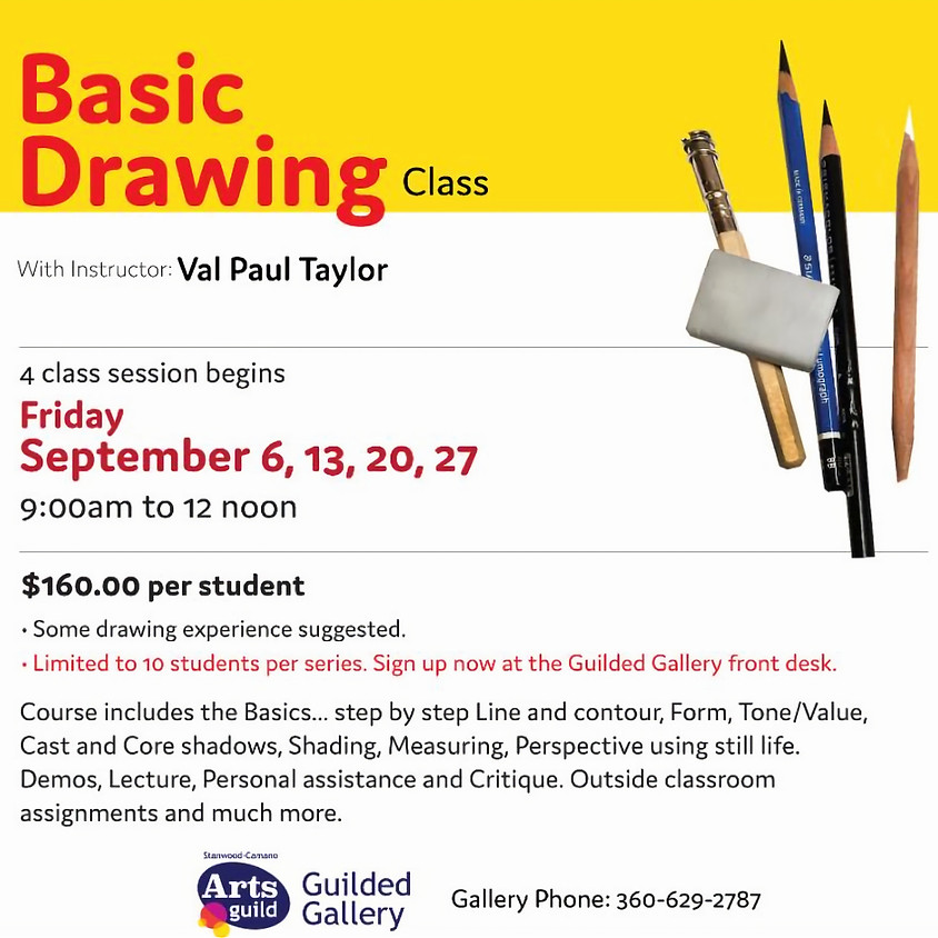SEPTEMBER ART CLASS - BASIC DRAWING