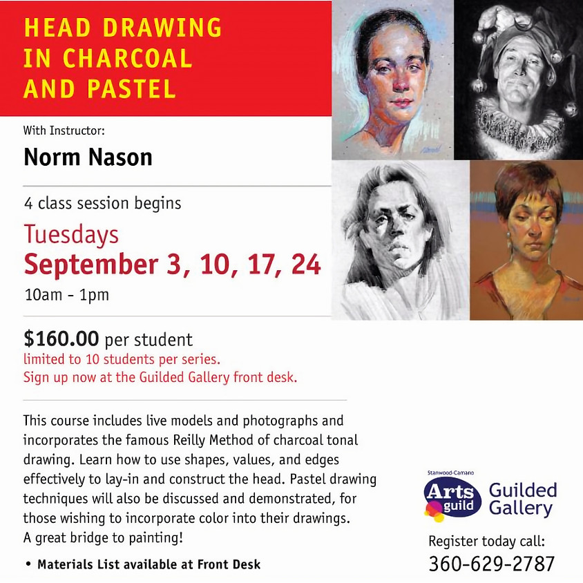 SEPTEMBER ART CLASS - HEAD DRAWING