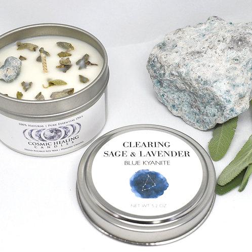 Clearing Sage & Lavender | Blue Kyanite