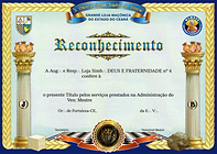 Diploma as amigos da Loja Deus e Fraternidaden 4