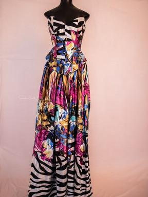 Janine. Multi Colored Skirt Set