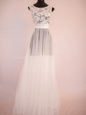 Wendy. White Princess Gown with Slip