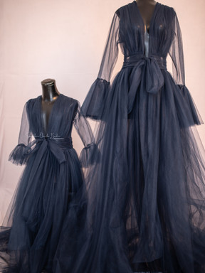Fine Art Mommy & Me Gown. Navy