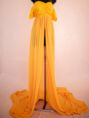 Imani. Yellow. Open Front. Flyaway