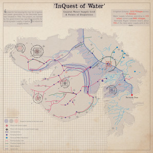 Gujarat water supply grid map with noted disparities