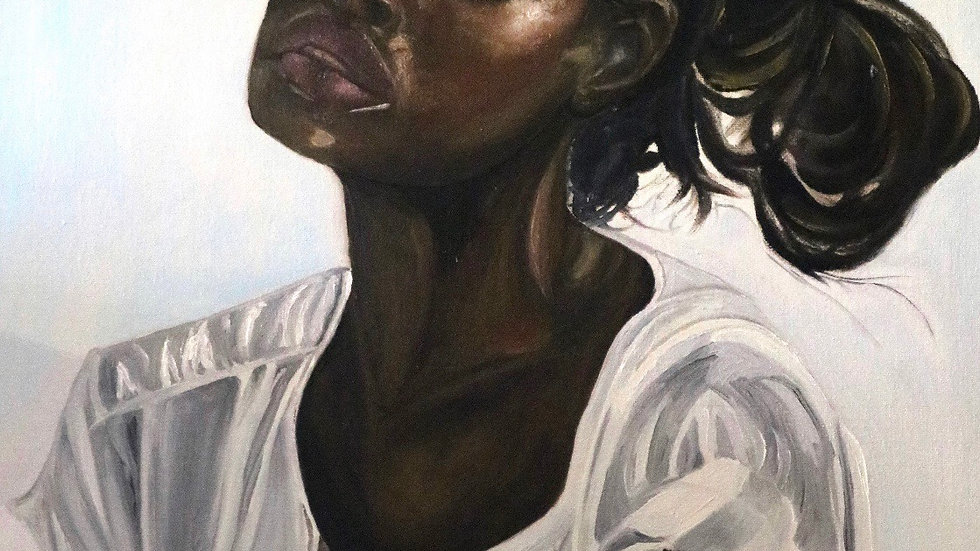 """Sold """"Breath"""" African American Woman Oil Painting"""