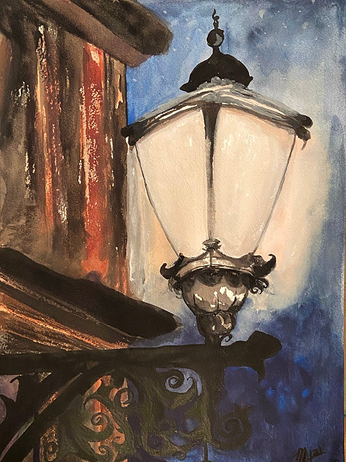 Street Lamp 12*16, Evening Glow