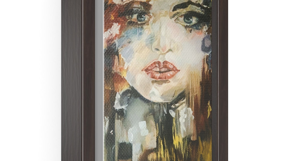 Her Face, Vertical Framed Premium Gallery Wrap Canvas