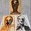 Thumbnail: Raw Emotions, 3 piece set, Ink Portrait Art