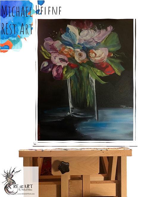 Inside Garden, Original Oil Painting, Flower Art, 16*20