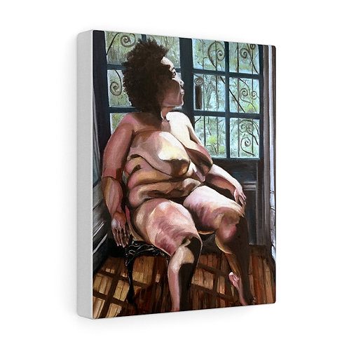 """""""Queen of Her Castle"""" Nude Black Woman, Canvas Gallery Wraps"""