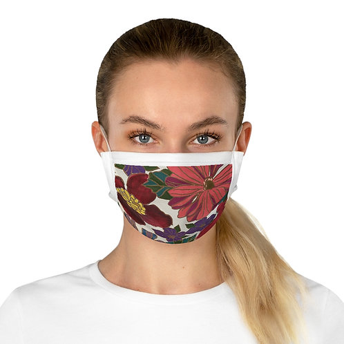 Cotton Face Mask: Red Floral