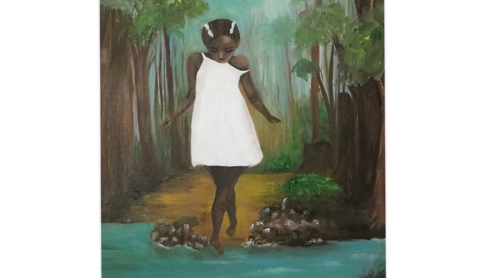 Original Oil Painting, Girl in the Woods  16*20