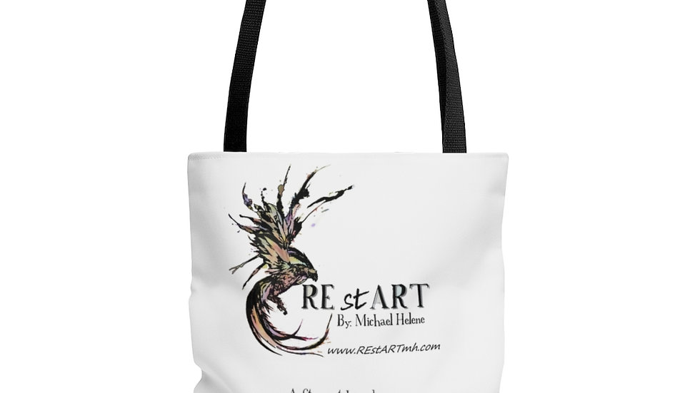 AOP Tote Bag with Logo and quote