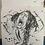 "Thumbnail: ""Rip"" Inktober Art, Pen and Ink, 8*8"