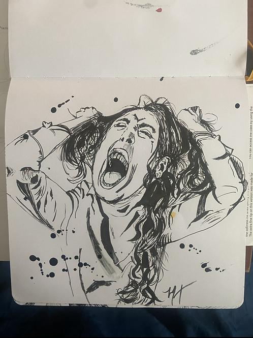 """Rip"" Inktober Art, Pen and Ink, 8*8"