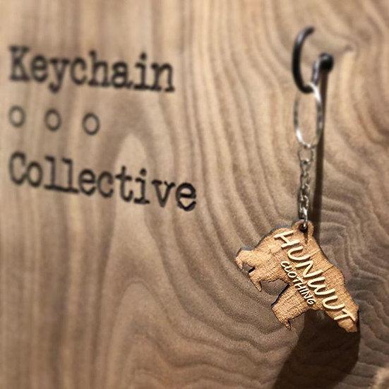 Hunwut Wooden Keychain