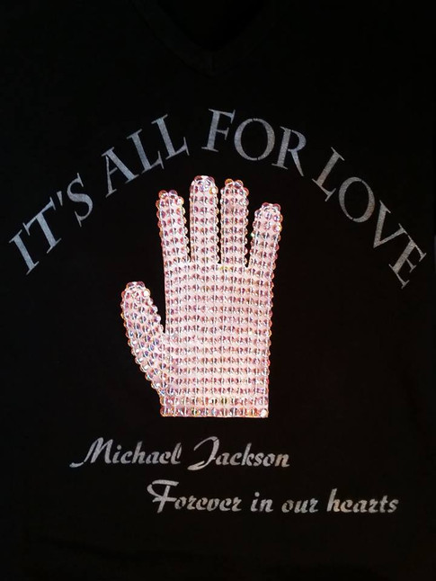Michael Jackson Swarovski Crystal Glove T-Shirt